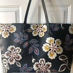 Tory Burch Hopewell Floral Kerrington Square Tote